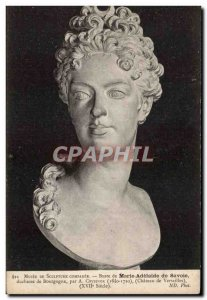 Old Postcard Bust of Marie Adelaide of Savoy Duchess of Burgundy by Coyzevox ...