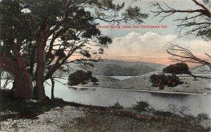Crystal Spring Lakes, near Burlingame, CA 1910 Hand-Colored Vintage Postcard