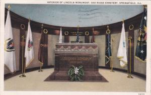 SPRINGFIELD, Illinois; Interior of Lincoln Monument, Oak Ridge Cemetery, PU-1932