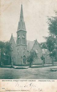 Brunswick Street Baptist Church - Fredericton NB New Brunswick, Canada - pm 1906