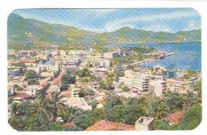Panoramic view of Acapulco Bay, Mexico, 40-60s