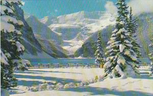 Snowy Winter Blanket At Lake Louise Alberta Canada