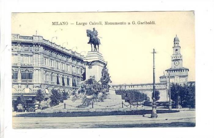MILANO, Largo Cairoli, Monumento a G. Garibaldi, Lombardia, Italy, 00-10s