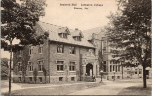 Easton Pennsylvania~Lafayette College~Brainerd Hall~Students @ Entrance~c1910
