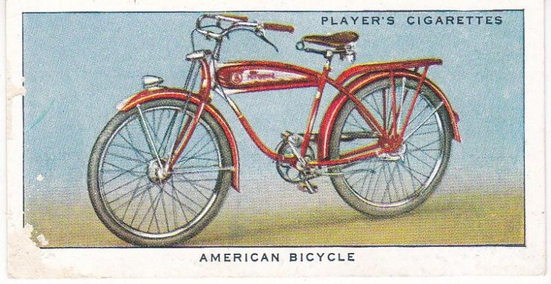 Cigarette Cards Players CYCLING No 38 American Bicycle
