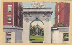 Rhode Island Providence Soldiers Mmemorial Gate Brown University Curteich