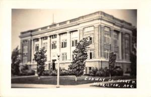 Morrilton Arkansas Conway Court House Real Photo Antique Postcard K27526