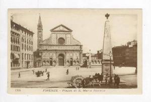 RP  FIRENZE - Piazza di S. Maria Novella, 00-10s Horse cart in square