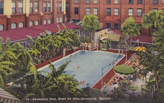 Swimming Pool Hotel De Soto Savannah Georgia