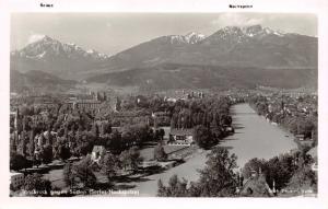 Vintage Austria Real Photo Postcard, Innsbruck, Towards the South W63