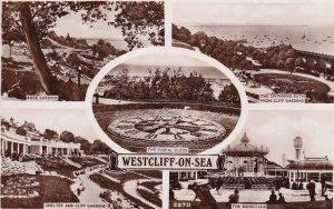 RP; WESTCLIFF-ON-SEA, Essex, England, PU-1946; Rock Gardens, The Floral Clock...