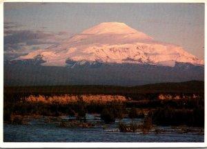 Alaska Wangell Range Mount Sanford From The TOK Highway