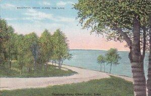 Beautiful Drive Along The Lake Greetings From Clear Lake Iowa