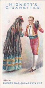 Hignett Bros Vintage Cigarette Card Greetings Of The World 1907 No 11 Spain