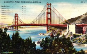 California San Francisco Golden Gate Bridge 1952