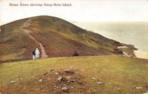 BR67428 brean down showing stee holm island  uk 14x9cm