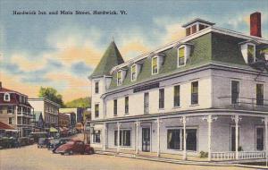 Vermont Hardwick Main Street and Hardwick Inn