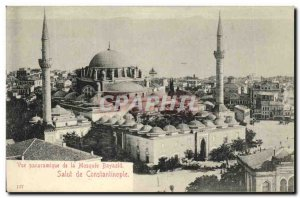 Old Postcard Constantinople Hi Panoramic View of Bayazid Mosque