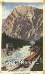 Mt Field and Kicking Horse River, Yoho National Park, USA Trains, Railroads U...