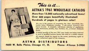 Chicago, Illinois Postcard AETNA'S 1961 WHOLESALE CATALOG Order Form