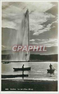Old Postcard Geneve The water jet