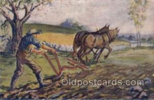 Farming Old Vintage Antique Postcard Post Card