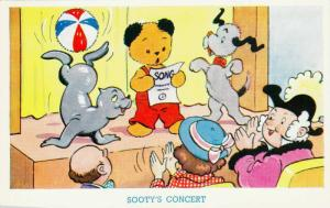 Sooty the Teddy Bear sings a song , 30-50s