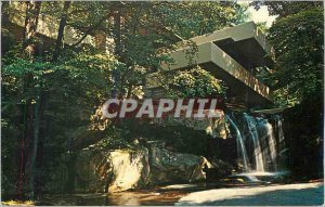 Postcard Modern World famous Fallingwater by Frank Lloyd Wright Mastterwork t...