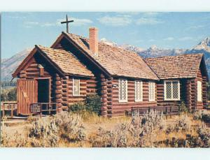 Unused Pre-1980 CHURCH SCENE Moose Wyoming WY p3584