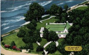 RACINE, WI Wisconsin   THE BREAKERS Restaurant Lake Michigan 1951 Linen Postcard