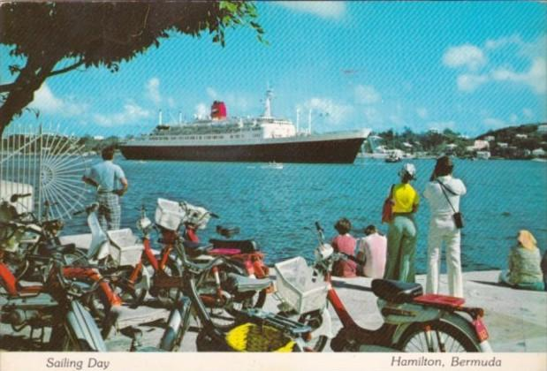 Bermuda Hamilton Steamer Statendam In Harbour
