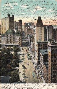 P1721 1909 mailed @ peconic L.I. NY a broadway st. vew new york city
