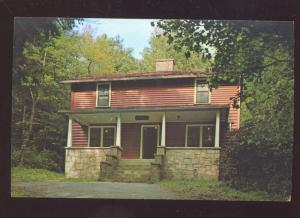 WEBSTER SPRINGS WEST VIRGINIA CAMP CAESER SLABSIDES VINTAGE POSTCARD
