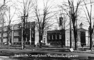G45/ Franklinville New York RPPC Postcard c1940s Central School