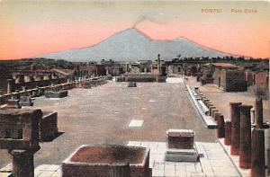 Italy Old Vintage Antique Post Card Pompei Foro Civile Unused