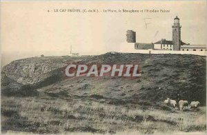 Old Postcard Cape Frehel Lighthouse C N and the Semaphore Pointe Extreme Shee...