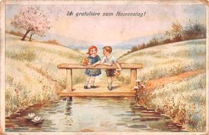 Czechoslovakia, Ceskoslovenske, Ceske Obce Sokolske Ich gratuliere zum Namens...