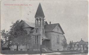 Wisconsin WI Postcard 1910 RICE LAKE Presbyterian Church Building
