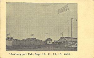 Newburyport MA Fair Association 1907 Advertising Postcard