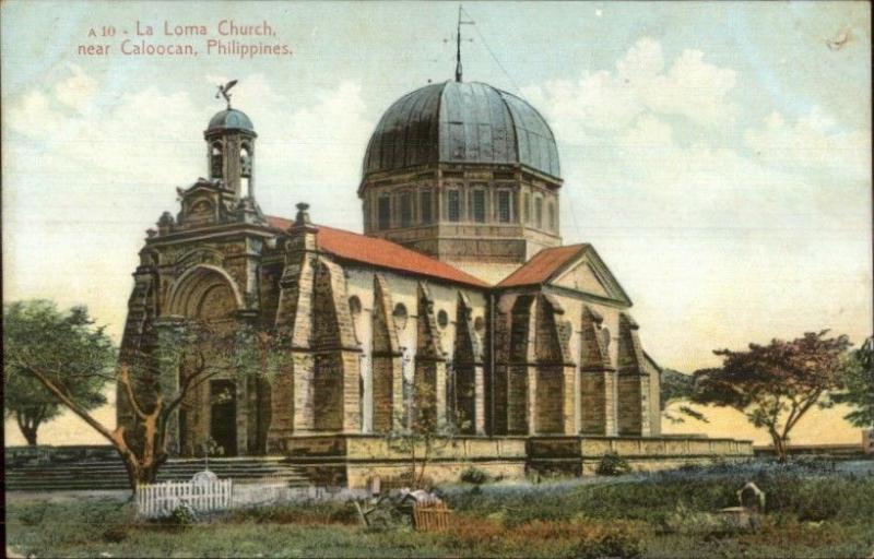 La Loma Church Near Caloocan Philippines c19190 Postcard