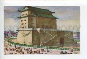 424496 CHINA Peking Chien Men Gate Dollar Steamship lines ship President board