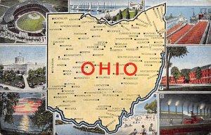 Maps Ohio USA Unused