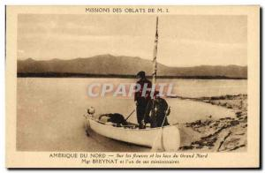 Old Postcard North America Polar on the rivers and lakes of the Great North B...