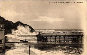 CPA   Port-en-Bessin - La Tempéte   (516198)