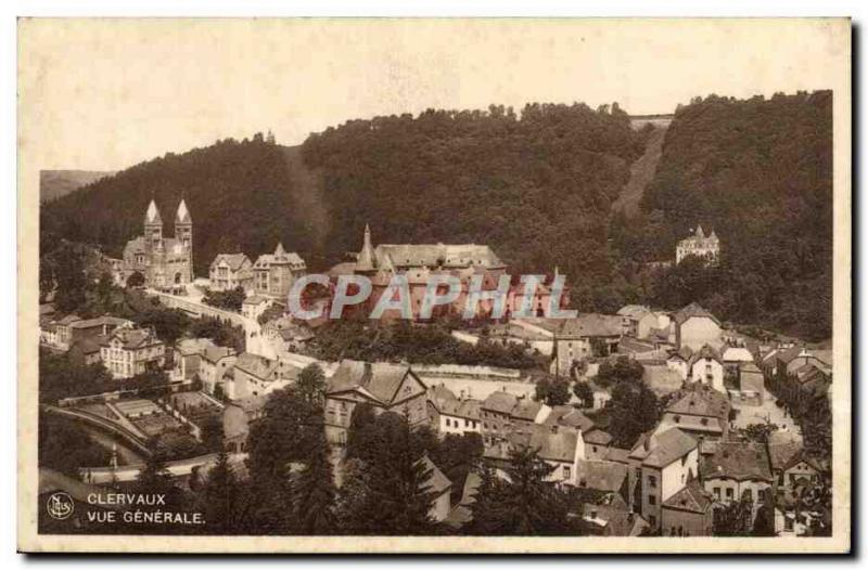 VINTAGE POSTCARD Clervaux View