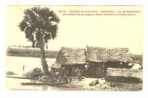 Dahomey.-Ile de Robinson au milieu de la lagune entre Cotonou et PORTO-NOVO, ...