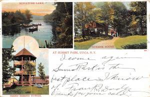 Utica New York~Summit Park~Sight Seeing Tower~Miniature Lake~Summer House~1906