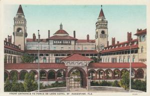 ST AUGUSTINE , Florida, 00-10s ; Front Entrance to Ponce De Leon Hotel