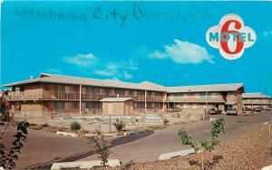 Oklahoma City Oklahoma~Motel 6 of Oklahoma City West~1960s Cars~Postcard