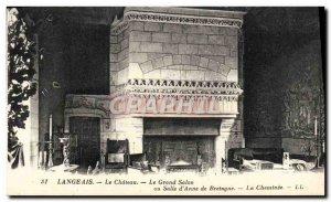 Old Postcard Langeais Le Chateau Le Grand Salon and Gallery D & # 39anne De B...